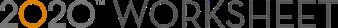 logo 2020 worksheet
